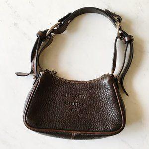 VTG Dooney & Bourke Brown Silver Mini Shoulder Bag